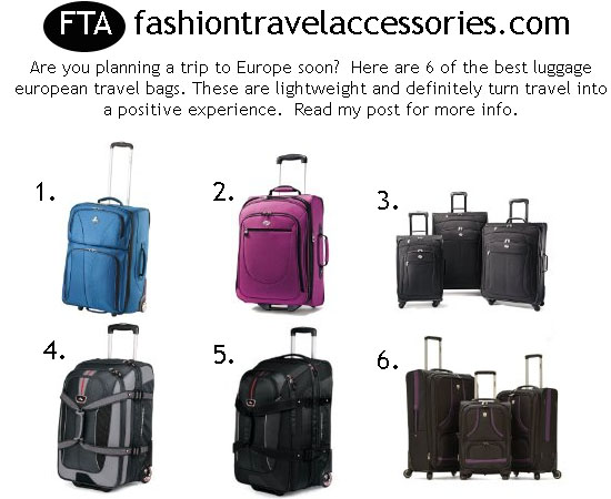 Best Luggage European Travel Bags - Best Lightweight Luggage ...