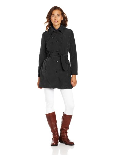 What To Wear In Europe In Winter London Fog Women's Snap Front Raincoat