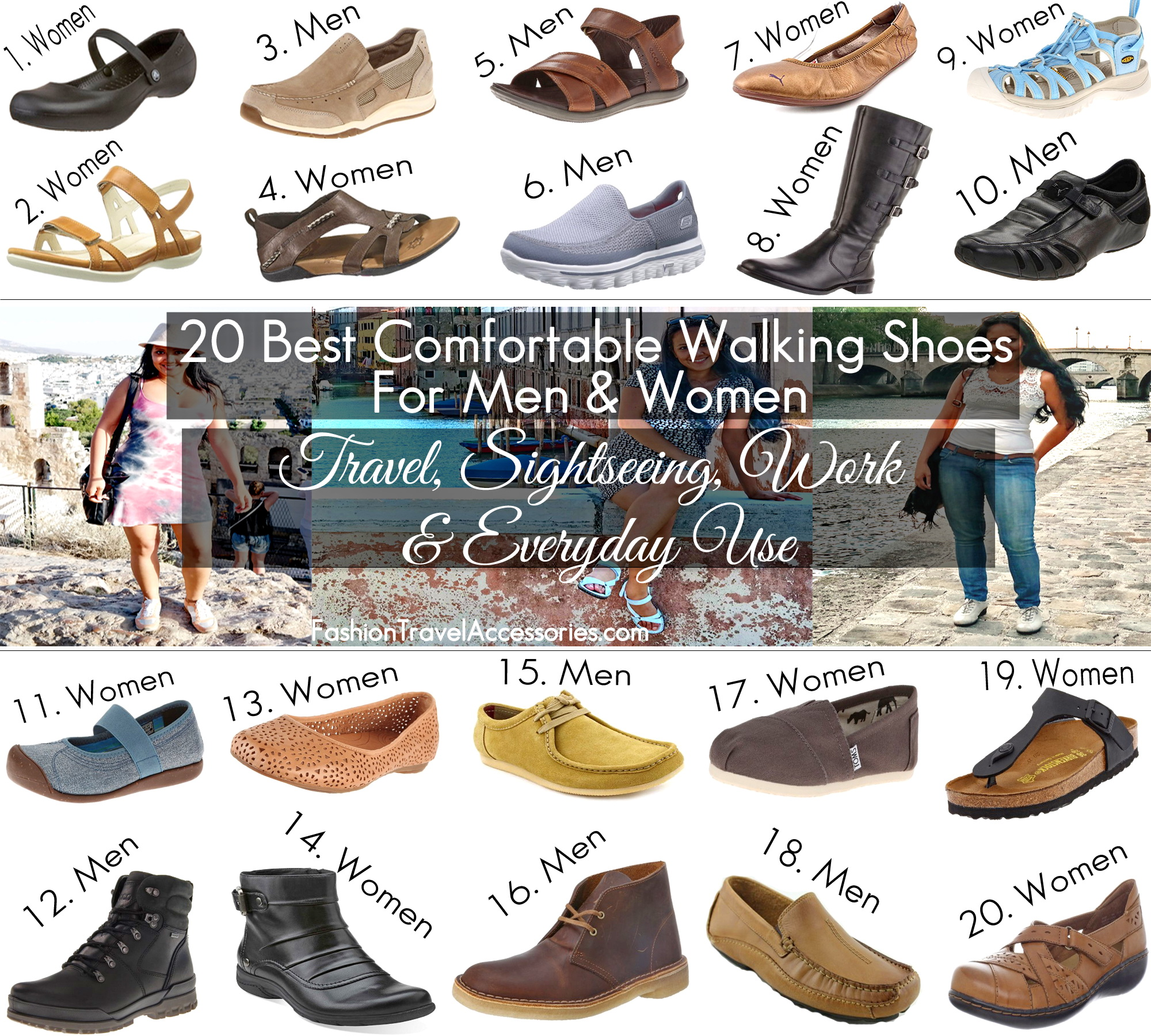 Top 10 Comfortable Walking Shoes For Women and Men