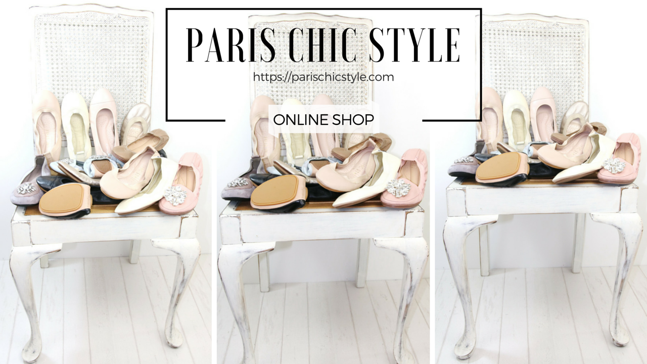 2 PARIS CHIC STYLE ONLINE SHOP FOLDABLE BALLET FLATS FASHION TRAVEL ACCESSORIES