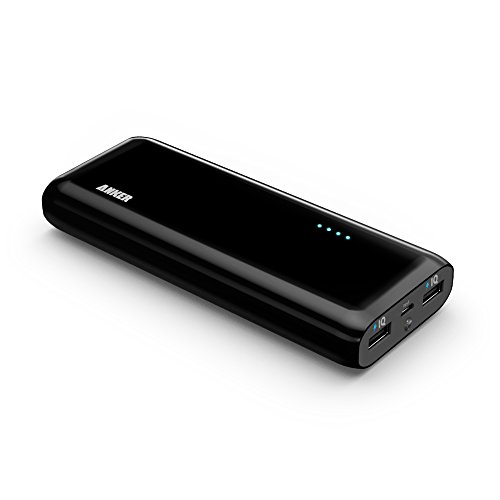 Anker® 2nd Gen Astro E4 13000mAh External Battery Portable Dual USB Charger Power Bank. PowerIQ™ Broad Compatibility, Fast Charging, High Capacity, Ultra Compact. For iPhone 6 5S 5C 5 4S, iPad Air mini, Galaxy S5 S4 S3, Note 3 4, Tab 4 3 2 Pro, Nexus, HTC One, One 2 (M8), LG G3, Nexus, MOTO X and More (Black)