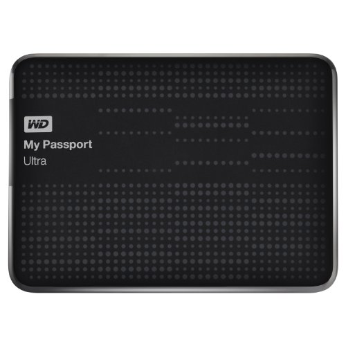 Travel Gifts For Men WD My Passport Ultra 1TB Portable External USB 3.0 Hard Drive with Auto Backup