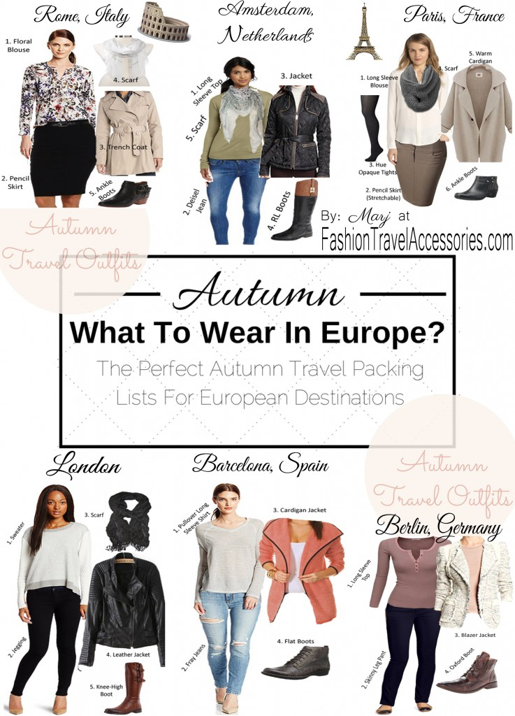 Packing List For Europe What To Wear In Europe In Autumn