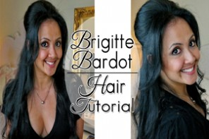 Brigitte Bardot Hair Tutorial Thumbnail