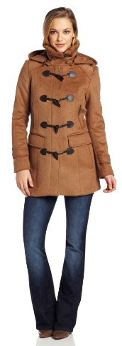 Cole Haan Women's Double Faced Wool Duffle Coat, Camel