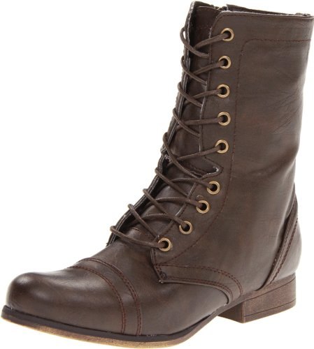 Madden Girl Women's Gamer Lace-Up Boot, Brown Paris