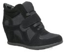 Sammy 6 Velcro High Top Wedge Sneaker Black