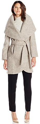 Types Of Coats T Tahari Women's Marla Wool Wrap Coat Tweed