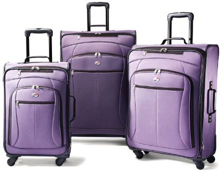 American Tourister Luggage AT Pop 3 Piece Spinner Set, Purple