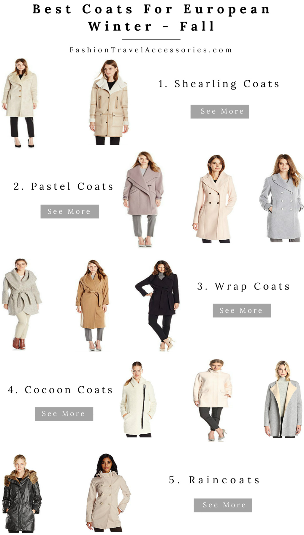 Best Coats For European Winter & Fall For Everyday Fashion