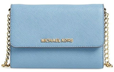 14.MICHAEL Michael Kors Jet Set Travel Saffiano Leather Smartphone Crossbody