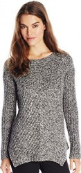 1 Winter Sweater Paris Kensie Women's Fuzzy Mixed-Media