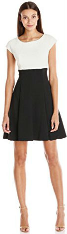 16 Gabby Skye Women's Fit and Flare 2fer Dress