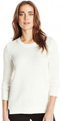 2 Fall Tops Paris Calvin Klein Women's Waffle Stitch Crew Neck