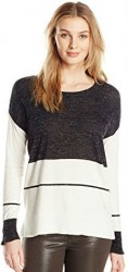 2 Spring Cardigan Paris Vince Camuto Women's Long-Sleeve Engineered Wide Stripe Sweater