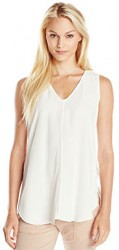 2 Summer Tops For Paris Adrianna Papell Women's Tulip Hem Tank