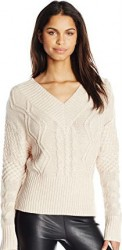 2 Winter Sweater Paris Kensie Women's Fuzzy Mixed-Media