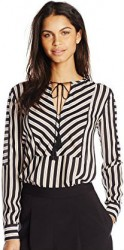 5 Spring Paris Top Rachel Zoe Women's Mairi Tassel Stripe Blouse
