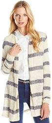 5 Summer Cardigans Paris Three Dots Women's Stripe Sweater Slub Cardigan