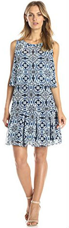 6 Jessica Simpson Women's Sleeveless Popover Printed Dress