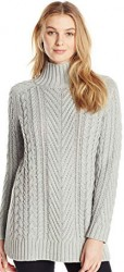 6 Winter Sweater Paris Vince Camuto Women's Long Sleeve Turtle Neck Mix Cable Tunic