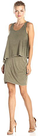 8 DKNY Jeans Women's Draped Acid-Wash Dress