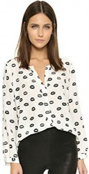 9 Spring Paris Top Joie Women's Purine Printed Long-Sleeve Top