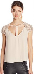 9 Summer Tops For Paris BCBGMAXAZRIA Women's Sierra Silky Top
