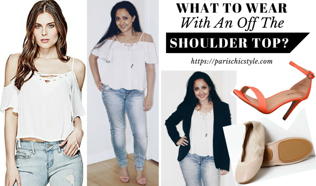 What To Wear With An Off The Shoulder Top Paris Chic Style Foldable Ballet Flats Fashion Travel Accessories