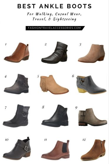 BEST ANKLE BOOTS For Walking, Casual Wear, Travel, & Sightseeing Fashion Travel Accessories 2