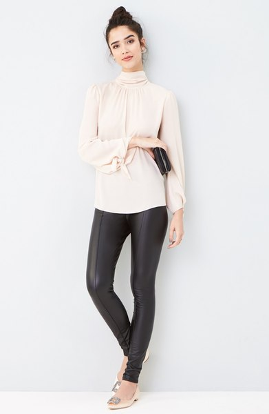Best Travel Pants High Waist Leather Pants Chic Comfy 2