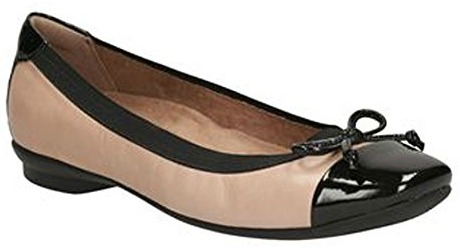 3 (1) Nude Ballet Flats Clarks Chandra Glow Fashion Travel Accessories