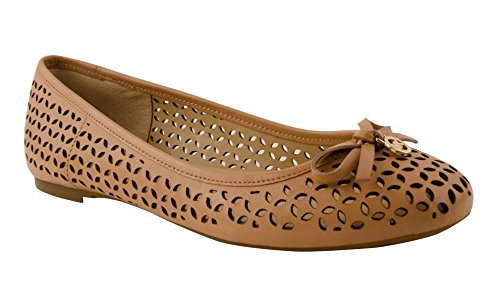 76346aab3160 No other ballet flats get cooler and more refreshing than this one. Michael  Kors Women s Olivia Flat is mainly embellished with all-over cutout details  ...