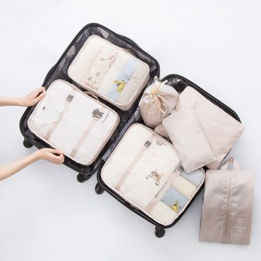 Best travel packing cubes luggage organizer lightweight durable fashion travel accessories beige 1