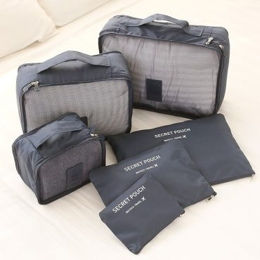 Best travel packing cubes luggage organizer lightweight durable fashion travel accessories gray 1