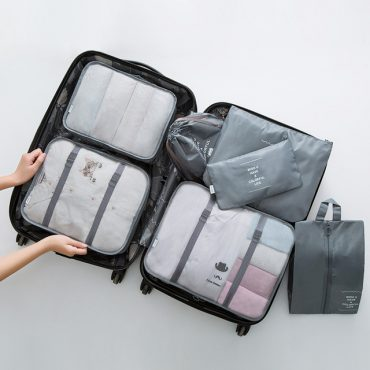 Best travel packing cubes luggage organizer lightweight durable fashion travel accessories gray 3