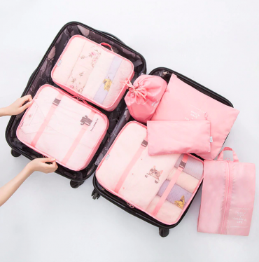 Best travel packing cubes luggage organizer lightweight durable fashion travel accessories pink 4