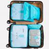Best travel packing cubes luggage organizer lightweight durable fashion travel accessories watermelon blue 3.1