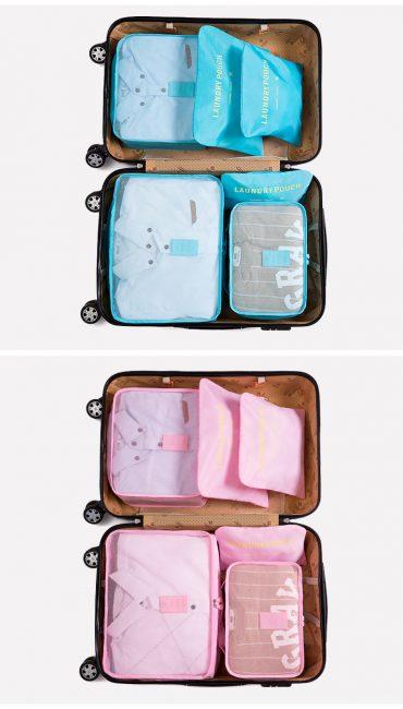 Best travel packing cubes luggage organizer lightweight durable fashion travel accessories watermelon blue 3.2
