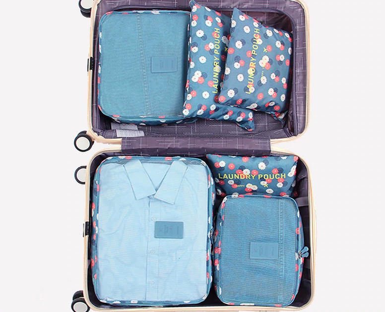 Best Travel Packing Cubes For Luggage 6pcs Fashion