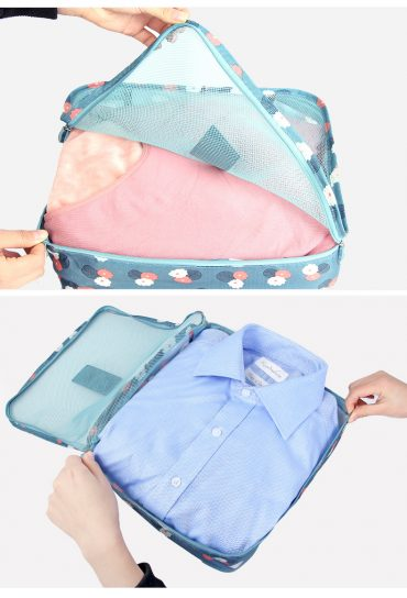 Best travel packing cubes luggage organizer lightweight durable fashion travel accessories watermelon blue flowers 4.3