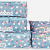 Best travel packing cubes luggage organizer lightweight durable fashion travel accessories watermelon blue flowers 4.4