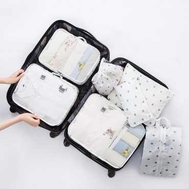 Best travel packing cubes luggage organizer lightweight durable fashion travel accessories white cactus 2